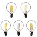 halpa Vaa'at-5pcs 1.5 W LED-pallolamput LED-hehkulamput 200 lm E14 E26 / E27 G45 2 LED-helmet Teho-LED Koristeltu Lämmin valkoinen 220-240 V 220 V 230 V