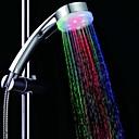 hesapli El Duş Başlıkları-Led duş başlığı renk değiştirme 2 su modu 7 renk kızdırma ışık otomatik olarak değişen el showerhead