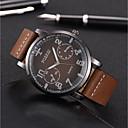 お買い得  軍用腕時計-男性用 軍用腕時計 クォーツ キルティングPUレザー ブラック / ブルー / ブラウン 非対応 クール 大きめ文字盤 ハンズ カジュアル ファッション - グレー コーヒー Brown 1年間 電池寿命