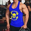 hesapli Erkek Tişörtleri ve Atletleri-Erkek Kısa Paltolar Kuru Kafalar AB / ABD Beden Koyu Mavi