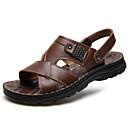 Недорогие Мужские сандалии-Муж. Комфортная обувь Наппа Leather Лето Сандалии Черный / Темно-русый / Темно-коричневый