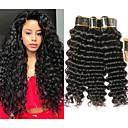levne Prameny přírodních vlasů-3 svazky Brazilské vlasy Velké vlny Nezpracované lidské vlasy Lidské vlasy Vazby Bundle Hair Příčesky z pravých vlasů 8-28 inch Přírodní barva Lidské vlasy Vazby Bez vůně kreativita Hedvábný povrch