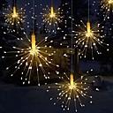 abordables Guirlandes Lumineuses LED-feux d'artifice lumière forme de bouquet pliable led chaîne décorative guirlandes pour guirlande patio fête de mariage lumière de noël