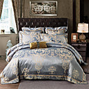 cheap High Quality Duvet Covers-Duvet Cover Sets Solid Colored / Luxury Poly / Cotton Jacquard 4 PieceBedding Sets