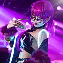 رخيصةأون أزياء تنكرية أنيمي-مستوحاة من LOL الكوسبلاي أنيمي أزياء Cosplay ياباني الدعاوى تأثيري بقع كم طويل بلايز / الالتفاف / شال من أجل نسائي / أغطية الرأس