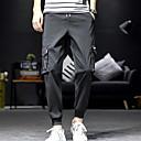 hesapli Erkek Atletik Ayakkabıları-Erkek Temel İnce Chinos Pantolon - Solid Yonca Siyah XXL XXXL XXXXL