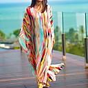 זול חליפות רטובות,חליפות צלילה וחולצות ראש-גארד-מקסי פס - שמלה טוניקה גדול חוף בגדי ריקוד נשים