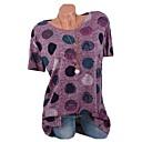 preiswerte Haus & Garten-Damen Punkt Baumwolle T-shirt Patchwork / Druck Rosa XXXL