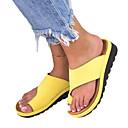 זול כפכפים ונעלי בית לנשים-בגדי ריקוד נשים PU קיץ יום יומי / מִעוּטָנוּת כפכפים & כפכפים עקב טריז בוהן עגולה צהוב / כסף / נמר