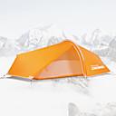 رخيصةأون مفارش و خيم و كانوبي-LONGSINGER 1 شخص خيمة التخييم العائلية في الهواء الطلق التنفس إمكانية سحّاب YKK طبقات مزدوجة قطب الماسورة خيمة التخييم 2000-3000 mm إلى Camping / Hiking / Caving السفر جدا ضوء الألومنيوم نايلون