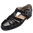 povoljno Muške sandale-Muškarci Udobne cipele Mekana koža Ljeto Sandale Crn / Braon