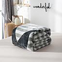 זול שמיכות וכיסויים-שמיכות מיטה / סופה לזרוק / שמיכות רב תכליתיות, אחיד / פסים / פשוט פלנל פליז חם יותר רך נוח סמיך