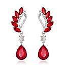 ราคาถูก ตุ้มหู-สำหรับผู้หญิง Cubic Zirconia Drop Earrings คลาสสิค โบฮีเมียน ต่างหู เครื่องประดับ แดง / สีเขียว / ฟ้า สำหรับ ทุกวัน เทศกาล 1 คู่