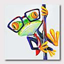 levne Abstraktní malby-Hang-malované olejomalba Ručně malované - Abstraktní Pop Art Současný styl Moderní Obsahovat vnitřní rám