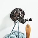 abordables Crochets à Peignoir-Rétro châssis en relief noir crochet nouveau pays de conception / laiton antique 1pc - salle de bain / hôtel mur monté