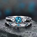 hesapli Yüzükler-Kadın's Mavi Yeşil Pembe Kübik Zirconia Fantezi Yüzük moda Zarif Moda Yüzükler Mücevher Mor / Yeşil / Açık Mavi Uyumluluk Düğün 2pcs