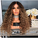 cheap Synthetic Lace Wigs-Human Hair Lace Wig kinky Straight Style Middle Part Capless Wig Dark Brown Dark Brown / Dark Auburn Synthetic Hair 26 inch Women's Women Dark Brown Wig Long Natural Wigs
