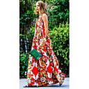 cheap Tattoo Stickers-Women's Boho Swing Dress - Floral Print Red M L XL