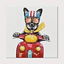 זול ציורי חיות-ציור שמן צבוע-Hang מצויר ביד - אומנות פופ מודרני כלול מסגרת פנימית