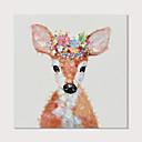 זול ציורים מופשטים-ציור שמן צבוע-Hang מצויר ביד - אומנות פופ מודרני כלול מסגרת פנימית