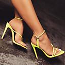hesapli Kadın Sandaletleri-Kadın's Ayakkabı Elastik Kumaş Yaz Tatlı / Minimalizm Sandaletler Stiletto Topuk Açık Uçlu Günlük / Parti ve Gece için Siyah / Fuşya / Açık Yeşil