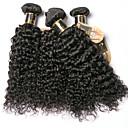 Недорогие Накладки из неокрашенных волос-6 Связок Бразильские волосы Kinky Curly 100% Remy Hair Weave Bundles Человека ткет Волосы Удлинитель Пучок волос 8-28 дюймовый Естественный цвет Ткет человеческих волос Без запаха Мягкость Толстые