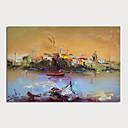 levne Abstraktní malby-Hang-malované olejomalba Ručně malované - Abstraktní Krajina Moderní Bez vnitřní rám