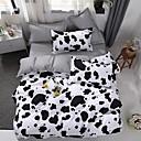 povoljno Cvjetni poplune-modni jednostavan stil tiskani krava duvet pokriva postavlja reaktivni tisak 3 / 4pcs (1 duvet poklopac 1 stan list 2 shams- twin 1kom)