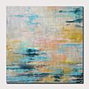זול ציורים מופשטים-ציור שמן צבוע-Hang מצויר ביד - מופשט L ו-scape עכשווי מודרני כלול מסגרת פנימית