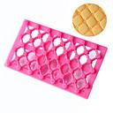 halpa Leivontavälineet-1kpl Muovi 3D Creative Kitchen Gadget Cookie for Cake Suorakulma Leivontatarvikkeet Bakeware-työkalut