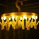זול חוט נורות לד-0.3 מ ' חוטי תאורה 16 נוריות צהוב דקורטיבי סוללות AA 1set