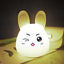 halpa Kakkumuotit-1kpl Rabbit LED Night Light / Nursery Night Light / Kirja-valo USB Sarjakuva / Stressiä ja ahdistusta Relief / Ladattava 5 V