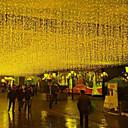 זול תוספות משיער אנושי-3x1M חוטי תאורה 150 נוריות לבן חם יצירתי / Party / דקורטיבי 220 V 2pcs