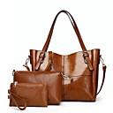 povoljno Komplet torbi-Žene Patent-zatvarač PU Bag Setovi Kompleti za vrećice Jedna barva Crn / Braon / Blushing Pink / Jesen zima