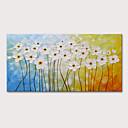 levne Abstraktní malby-Hang-malované olejomalba Ručně malované - Abstraktní Květinový / Botanický motiv Moderní Obsahovat vnitřní rám