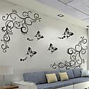 זול מדבקות קיר-מדבקות קיר דקורטיביות - מדבקות קיר מטוס ערבסקה / צורות סלון / משרד