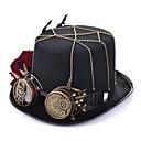 זול הד פיס למסיבות-עור / פּוֹלִיאֶסטֶר / סגסוגת ביגוד לראש עם נוצות / כובע / מתכת חלק 1 לבוש יומיומי / בָּחוּץ כיסוי ראש
