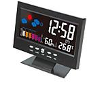 זול שעונים מעוררים-שעון דיגיטלי שעון דיגיטלי לשעון שעון לחות צג שעון מד טמפרטורה היגרומטר תחזית מזג האוויר שולחן השעון
