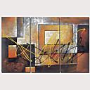 halpa Tulosteet-Painettu Pingoitetut kanvasprintit - Abstrakti Perinteinen Moderni 3 paneeli Art Prints