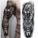 preiswerte Tattoo-Aufkleber-3 pcs Temporary Tattoos Umweltfreundlich / Wegwerfbar Korpus / Brachium / zurück Kartonpapier