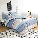 halpa Kiinteä pussilakanoiksi-Pussilakanasetti setit Stripes / Ripples / Moderni Puuvilla Printed 4 osainenBedding Sets