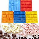 levne Formy na dorty-1ks Silica gel 3D Led Čokoládová Led pro Cake Toy Bricks Pečení a výroba těsta Nástroje na pečení