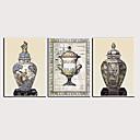 זול הדפסים-דפוס הדפסי בד מגולגל - מופשט היסטוריה קלסי מודרני שלושה פנלים הדפסים אמנותיים