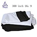 זול אביזרים למקרנים-16:9 300 אִינְטשׁ PVC מאקס לבן מסך על מעמד מהקיר