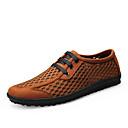 זול סניקרס לגברים-בגדי ריקוד גברים נעלי נוחות רשת אביב קיץ יום יומי נעלי ספורט ריצה / הליכה נושם שחור / חום