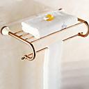 זול מדפי מקלחת-צדף לחדר האמבטיה עיצוב חדש / מגניב מודרני פליז 1pc כפול מותקן על הקיר
