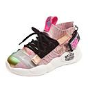 זול נעלי ספורט לילדים-בנות נוחות PU / Flyknit נעלי אתלטיקה ילדים / מתבגר לבן / שחור / ורוד בהיר קיץ / סתיו