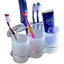 זול מחזיק מברשות שיניים-מחזיק למברשת שיניים יצירתי / רב שימושי עכשווי אלומיניום 3pcs