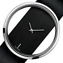 זול טבעת מפית-לזוג שעוני שמלה קווארץ סגנון פורמלי עור שחור / לבן שעונים יום יומיים אנלוגי אופנתי - לבן שחור שנה אחת חיי סוללה / מתכת אל חלד