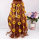 זול אביזרים לחיות קטנות-כותנה / פוליאסטר / מקובץ אביזר לשיער עם פרח 1pc קרנבל / נשף מסכות כיסוי ראש